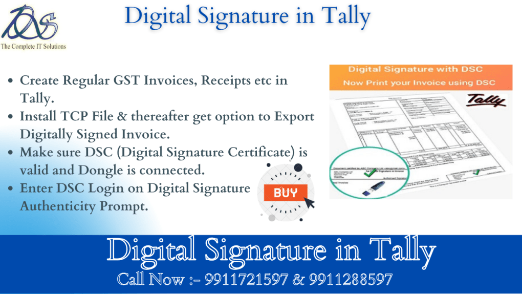 Digital Signature in Tally Prime Advantages